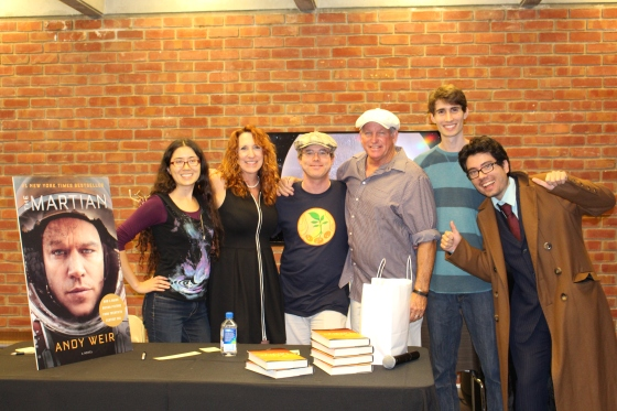 Andy Weir and Village Staff